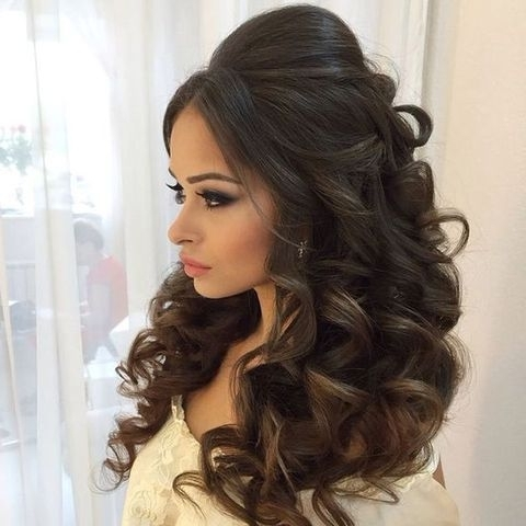 Modern Style Wedding Reception Hairstyles With 25 Best Ideas About With Regard To Wedding Reception Hairstyles For Long Hair (View 9 of 15)