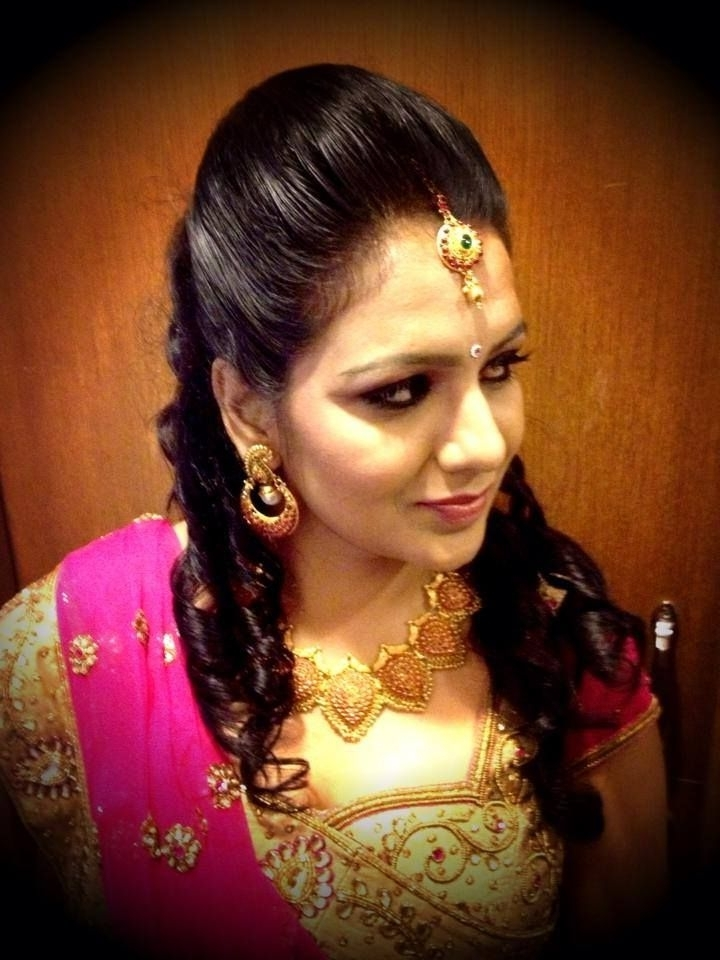 Modern Wedding Reception Hairstyles With Hairstyles For Indian With Wedding Reception Hairstyles For Guests (View 11 of 15)