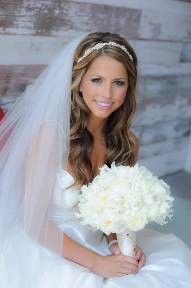 Featured Photo of Wedding Hairstyles With Headband And Veil