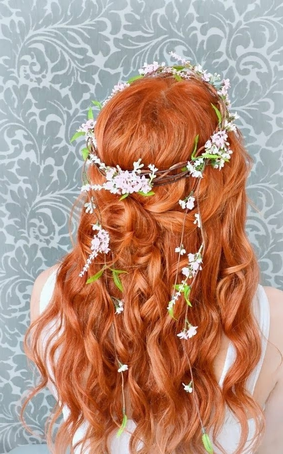 More Fabulous Pins: Wedding Hair: Flower Garlands And Red Hair Throughout Wedding Hairstyles For Long Red Hair (View 10 of 15)