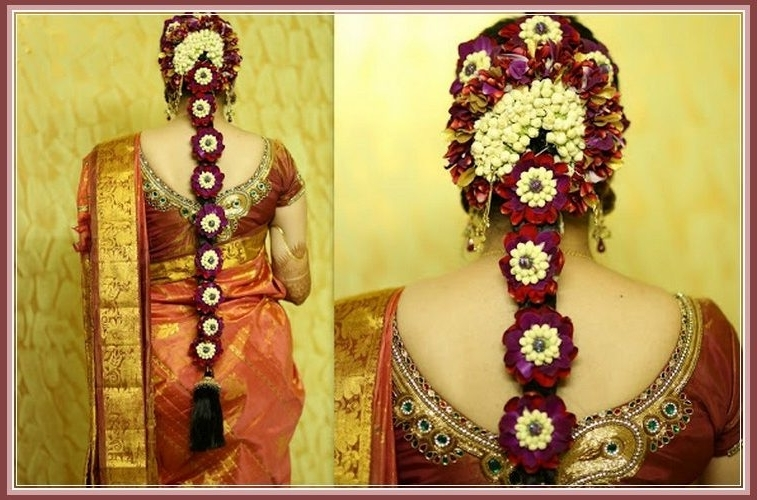 Most Beautiful South Indian Wedding Hairstyles For Long Hair – Yabibo Within South Indian Wedding Hairstyles For Long Hair (View 3 of 15)