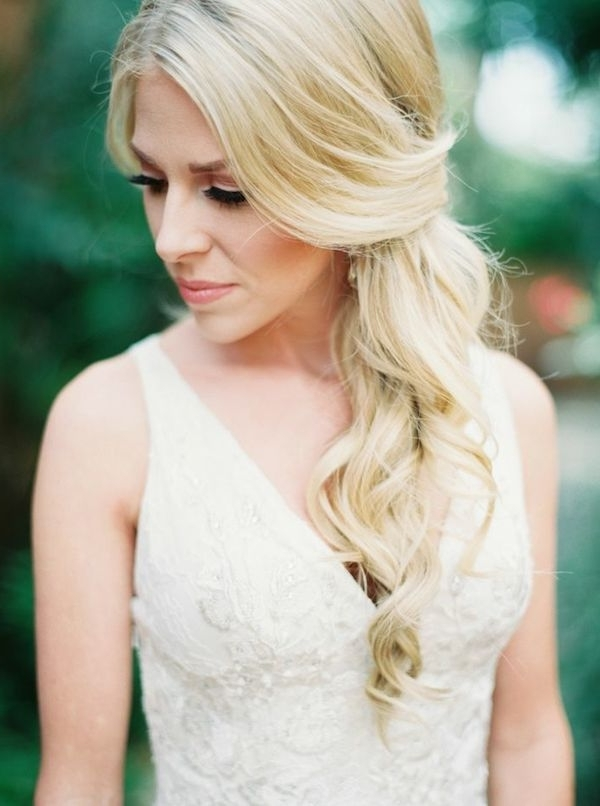 Natural Glamour | Wedding Hairstyles For The Romantic Bride inside Wedding Hairstyles For Long Loose Hair
