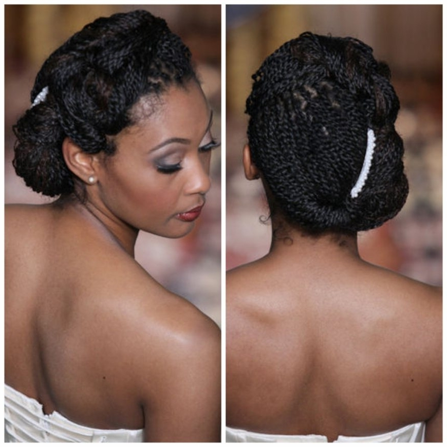 Natural Hair Style For Black Women Wedding Wedding Hairstyles For In Wedding Hairstyles For Black Hair (View 10 of 15)