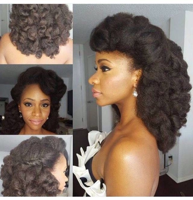 Natural Hairstyle | Love Natural Style | Pinterest | Natural, Hair Throughout Wedding Hairstyles For Natural Afro Hair (View 9 of 15)
