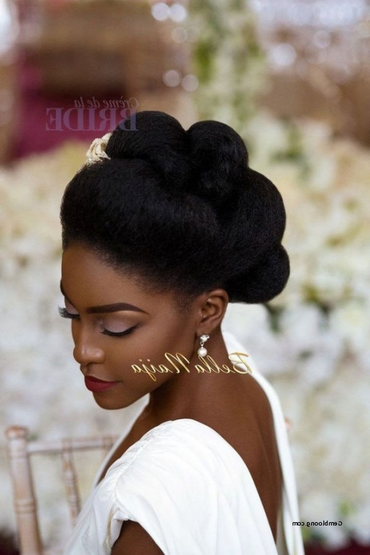 Natural Updo Wedding Hairstyles Awesome Wedding Hairstyles For Black Intended For Updos African American Wedding Hairstyles (View 4 of 15)