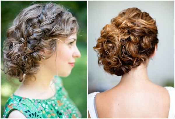 Naturally Curly Wedding Hair Updos | Medium Hair Styles Ideas - 45895 in Updos With Curls Wedding Hairstyles
