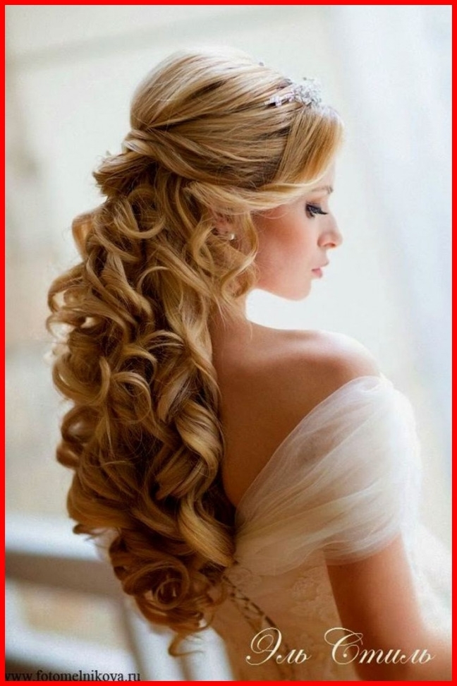New Wedding Hairstyles Curly Hair Half Up Image Of Wedding | Latest Within Wedding Hairstyles With Curls (View 11 of 15)