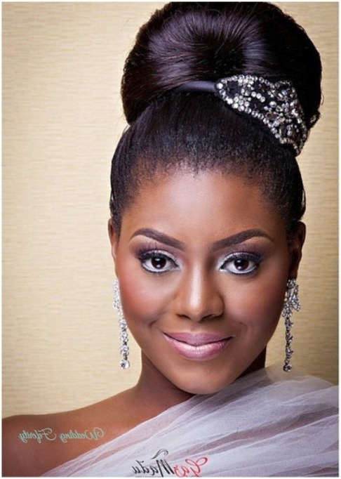 Nice Nigerian Wedding Hairstyles #1 Nigerian Bridal Hair Makeup Regarding Wedding Hairstyles For Nigerian Brides (View 4 of 15)