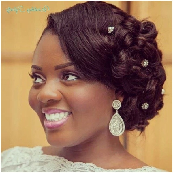 Nigerian Bridal Hair Makeup Wedding Feferity 0002 – Mobizoneng Pertaining To Wedding Hairstyles For Nigerian Brides (View 9 of 15)