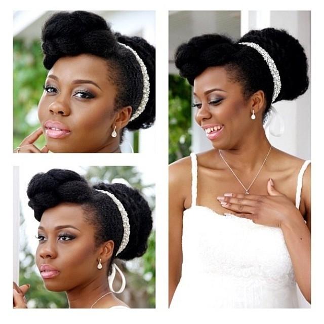 Nigerian Wedding: 20 Real Brides Rocking Their Beautiful Natural for Nigerian Wedding Hairstyles For Bridesmaids
