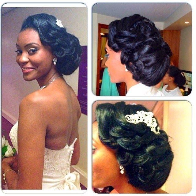Nigerian Wedding Bridal Hairstyles For Black Bride | Zambian Regarding Wedding Hairstyles For Black Bridesmaids (View 13 of 15)