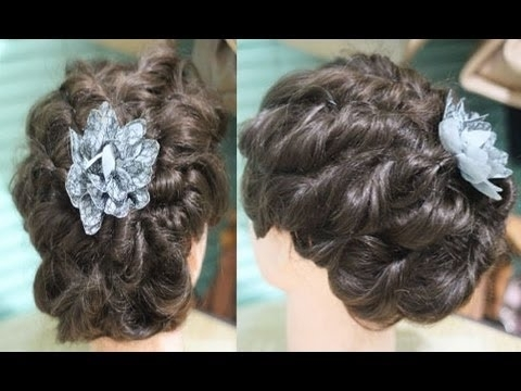 No Heat Easy Messy Twisted Updo For Prom/ Wedding /special Occasion in Wedding Hairstyles Without Heat