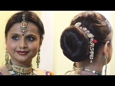 North Indian Bridal Hairstyle - Rajwadi Style! - Youtube regarding North Indian Wedding Hairstyles For Long Hair