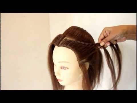 North Indian Bridal Hairstyleestherkinder - Youtube throughout North Indian Wedding Hairstyles For Long Hair