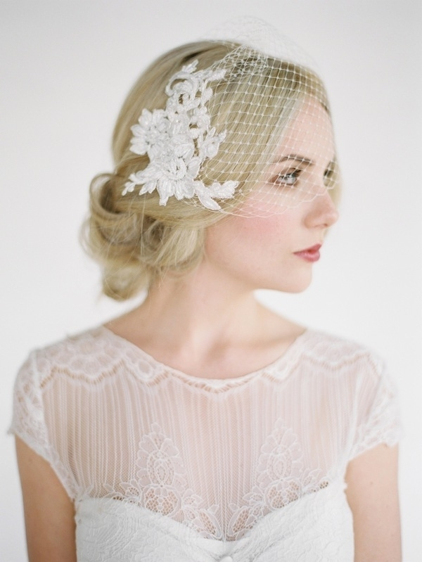 Old World | Hairstyles For Birdcage Veilspercy Handmade In Wedding Hairstyles For Long Hair With Birdcage Veil (View 8 of 15)