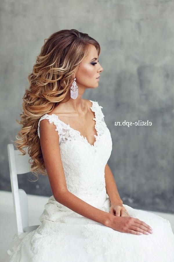 Ombre Long Wavy Wedding Hairstyle | Deer Pearl Flowers Intended For Wedding Hairstyles For Long Wavy Hair (View 11 of 15)