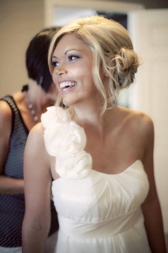 One Shoulder Hair (Awesome Wedding Hairstyles For One Shoulder Dress With Regard To Over One Shoulder Wedding Hairstyles (View 4 of 15)