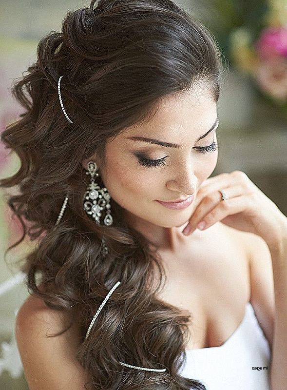 One Side Curly Hairstyle Fresh Side Do Wedding Hairstyles Intended For Wedding Hairstyles On The Side With Curls (View 7 of 15)