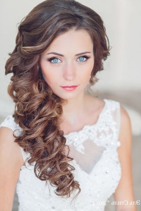 One Sided Wedding Hairstyles #4 Perfect Side Swept Curly Hair Will With Regard To Side Swept Wedding Hairstyles (View 10 of 15)