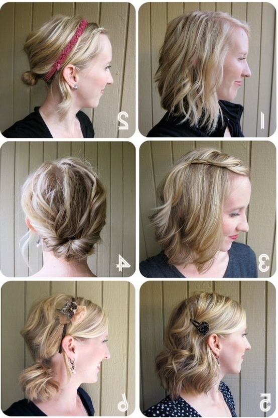 One Week Of Great Hair – Simple Hairstyles For Medium Length Within Diy Wedding Hairstyles For Shoulder Length Hair (View 9 of 15)