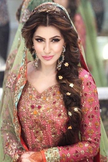 Pakistani Bridal Wedding Hairstyles Trend 1 – Shadibox Within Pakistani Wedding Hairstyles (View 7 of 15)