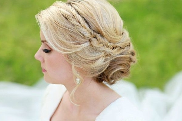 Photo Credit: Julie Parker Photography Hair And Makeupsteph With Regard To Plaits Bun Wedding Hairstyles (View 4 of 15)