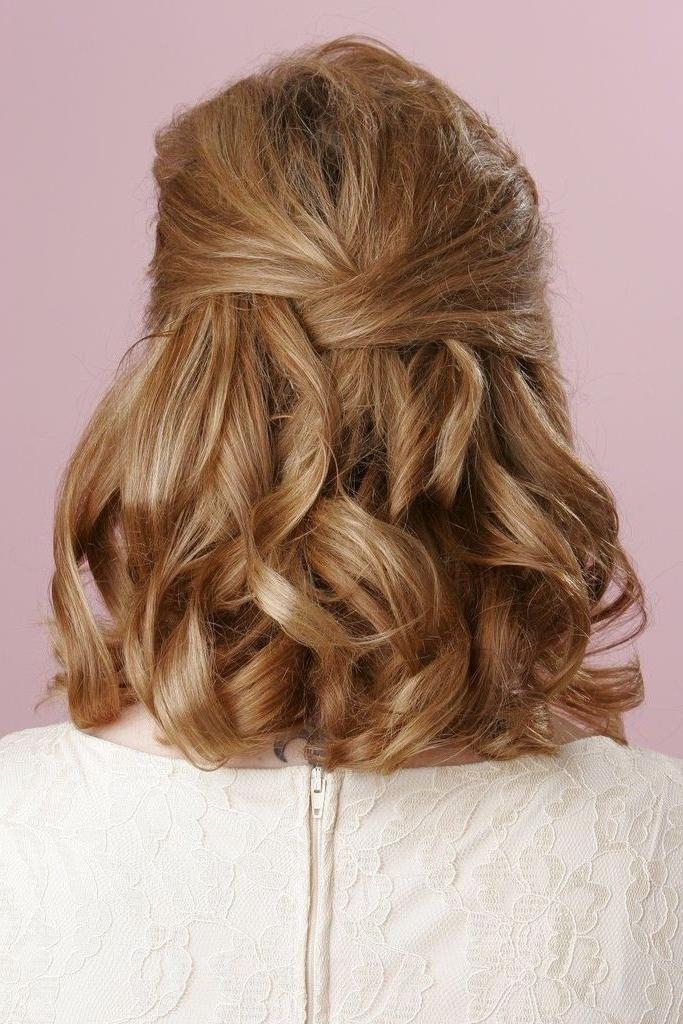 Pics For > Half Up Half Down Hairstyles Medium Length Hair Prom Regarding Wedding Hairstyles For Short To Medium Length Hair (View 11 of 15)