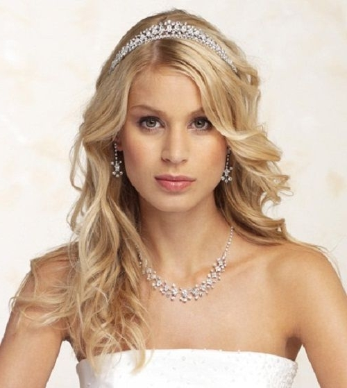 Pics For > Wedding Hair Down With Tiara | Dress Cuts | Pinterest With Regard To Wedding Hairstyles Down With Tiara (View 10 of 15)