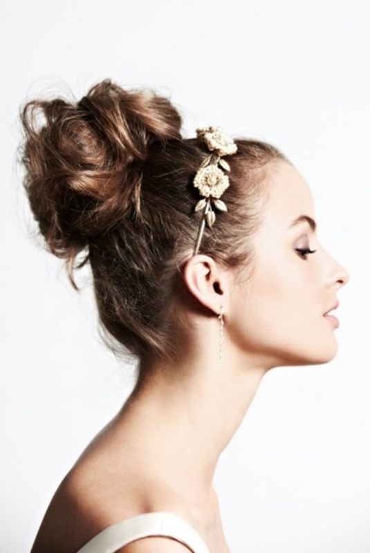 Picture Of Trendy Wedding Hairstyles Ideas With The Top Knot Intended For Knot Wedding Hairstyles (View 13 of 15)