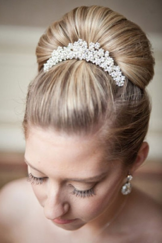 Picture Of Trendy Wedding Hairstyles Ideas With The Top Knot Pertaining To Knot Wedding Hairstyles (View 2 of 15)