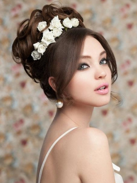 Pictures : Wedding Hairstyles For Long Hair – Wedding Curly High Throughout High Updos Wedding Hairstyles (View 7 of 15)