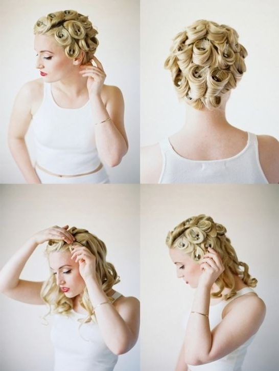 Pin Curl Wedding Hairstyles Home Design Ideas #2 Weddingomania Pertaining To Pin Curls Wedding Hairstyles (View 5 of 15)