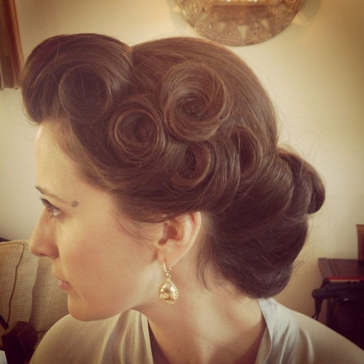 Pin Up Wedding Hairstyles | Pin Curls | Vintage Hairstyle | Pinup Up Throughout Pin Curls Wedding Hairstyles (View 7 of 15)