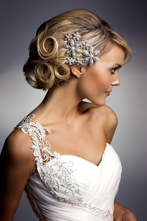 Pinkat Marck On Wedding – Random | Pinterest | Shoulder, Wedding In Over One Shoulder Wedding Hairstyles (View 2 of 15)