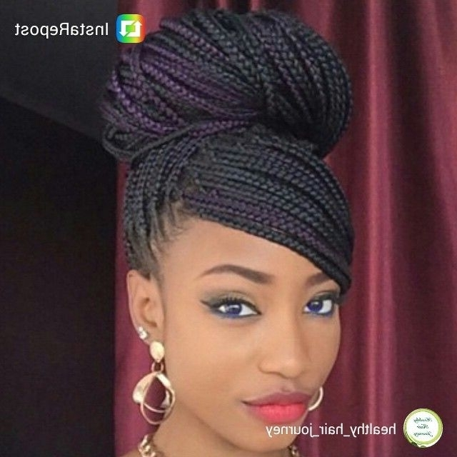 Pinpamela Hill On African Hair With Flair | Pinterest | Hair Pertaining To Wedding Hairstyles With Box Braids (View 8 of 15)