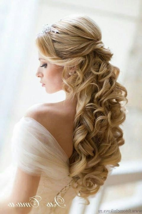 Pinsuzzanne On Hair Ideas & Colour | Pinterest | Wedding Hair Regarding Wedding Hairstyles For Long Down Curls Hair (View 12 of 15)
