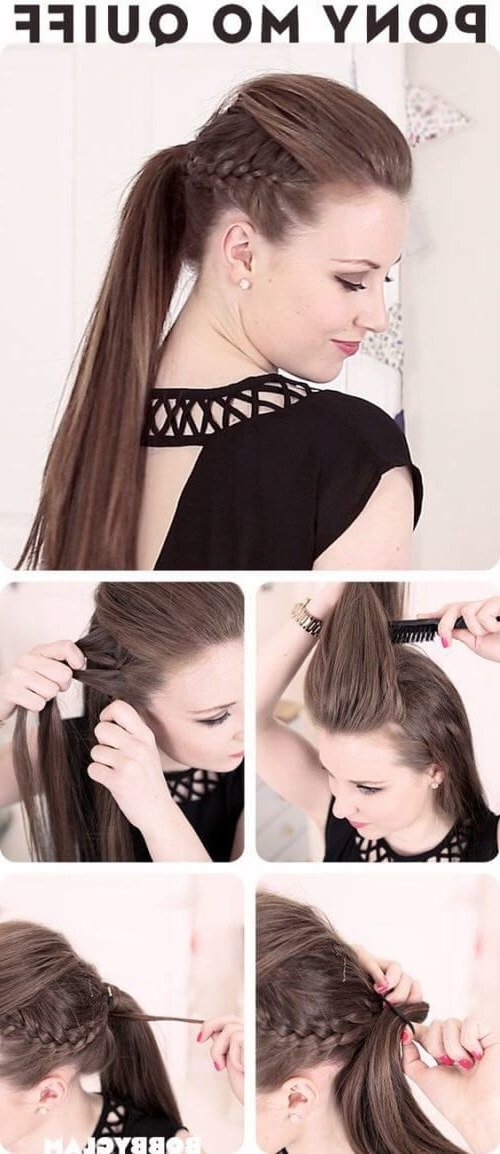 Ponytail And Quiff Hairstyle Stepstep | Puff Hairstyles With Bouffant Quiff Ponytail Wedding Hairstyles (View 12 of 15)