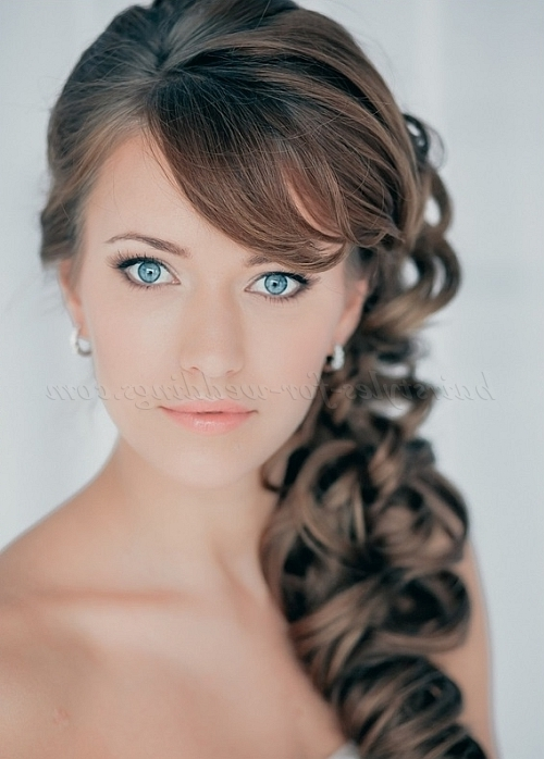 Ponytail Hairstyles – Curly Side Ponytail | Hairstyles For Weddings In Wedding Hairstyles On The Side With Curls (View 8 of 15)