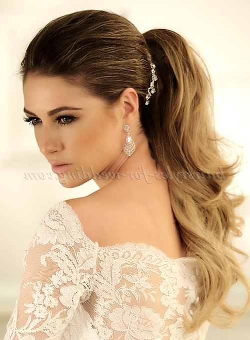 Ponytail Hairstyles – Ponytail Wedding Hairstyle | Hairstyles For In Wedding Hairstyles With Ponytail (View 2 of 15)