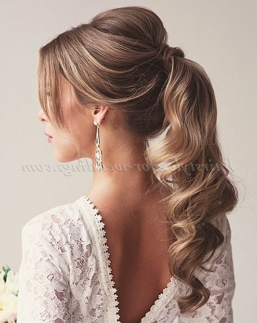 Ponytail Hairstyles – Ponytail Wedding Hairstyle | Hairstyles For Pertaining To Wedding Hairstyles With Ponytail (View 14 of 15)