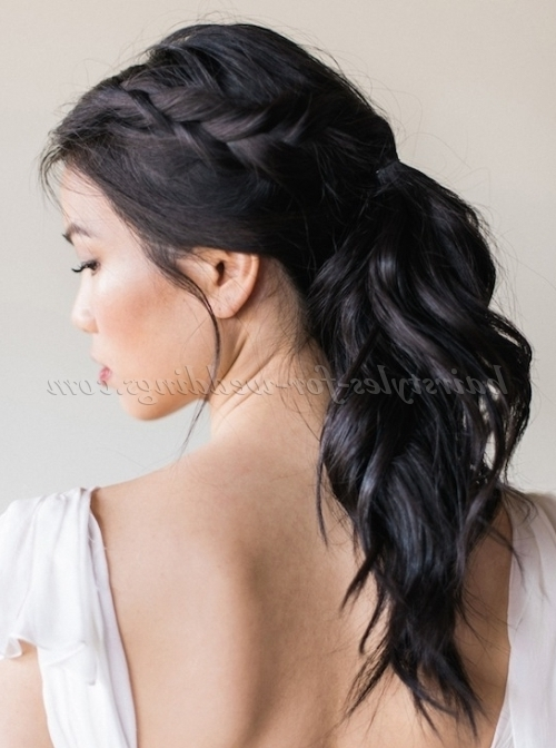 Ponytail Hairstyles – Ponytail Wedding Hairstyle With Braid For Wedding Hairstyles With Ponytail (View 11 of 15)