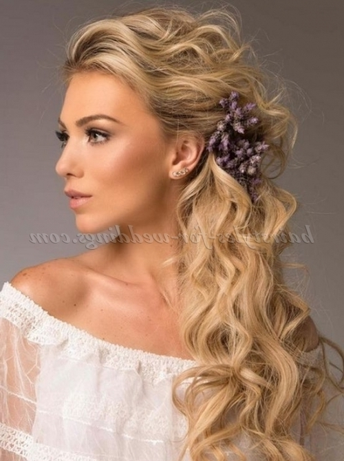 Ponytail Hairstyles – Side Ponytail For Brides | Hairstyles For Pertaining To Wedding Hairstyles Long Side Ponytail Hair (View 9 of 15)