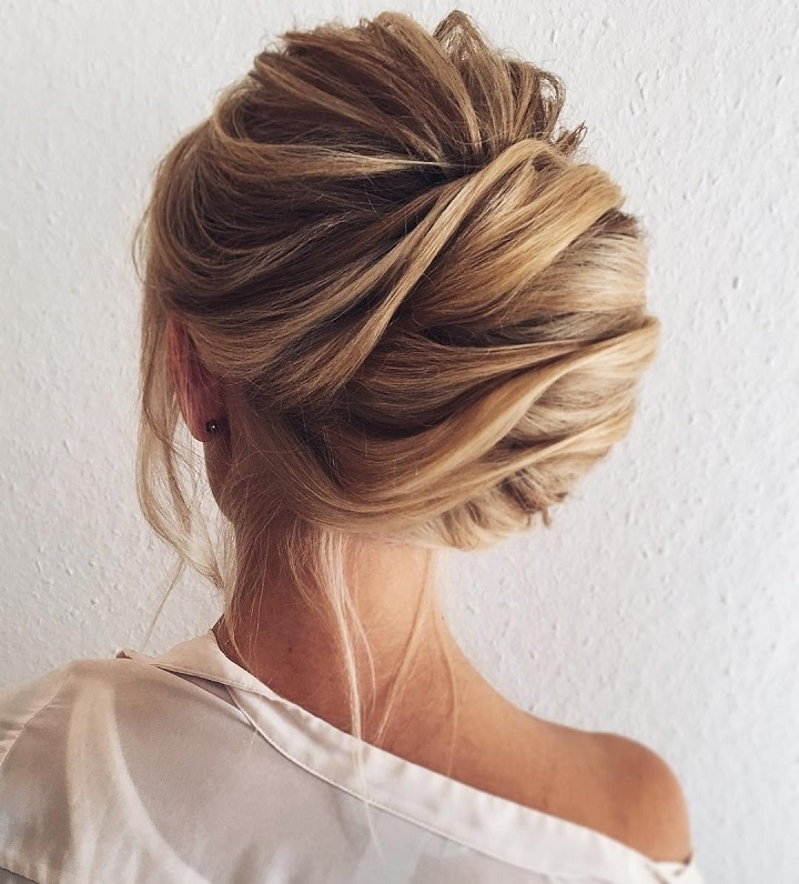 Pretty Chignon Hairstyle For Long Hair | Side Parted,chignon Wedding Regarding Chignon Wedding Hairstyles (View 13 of 15)