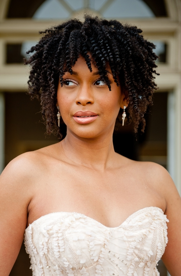 Pretty Curls: Natural Hair Inspiration For African American Brides With Regard To Wedding Hairstyles For Short Natural Black Hair (View 8 of 15)