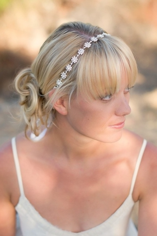 Featured Photo of Wedding Hairstyles For Mid Length Hair With Fringe