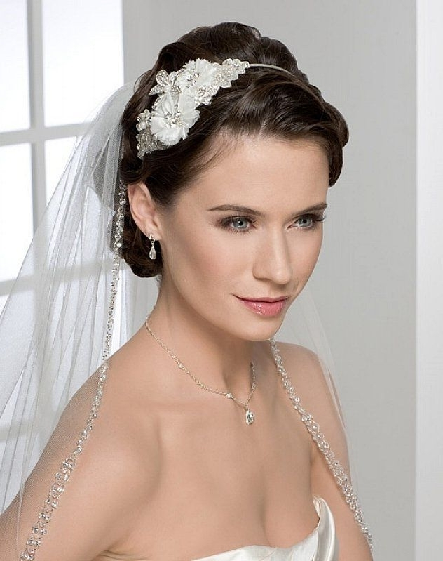Pretty Wedding Updo Hairstyles For Long Straight Hair With Veil And With Wedding Hairstyles For Long Straight Hair With Veil (View 8 of 15)