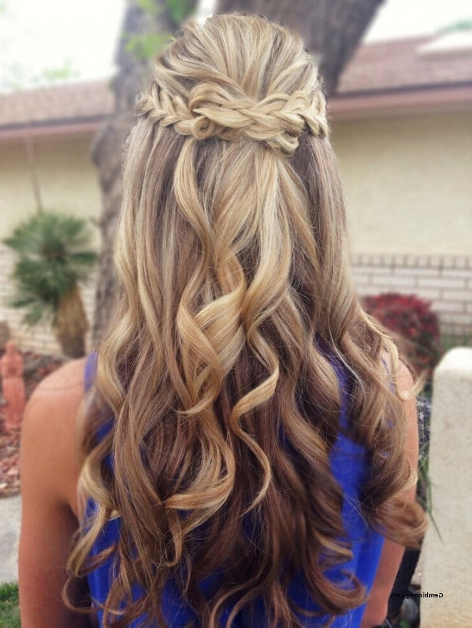 Prom Hair Half Up Half Down Braid 2018 – Csdathletics Regarding Wedding Hairstyles Down With Braids (View 9 of 15)