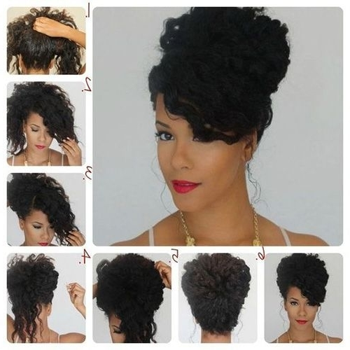 Prom Hairstyles, Curly Hair Updos, Hacks, How To, Pictures | Updos With Wedding Hairstyles For Natural Kinky Hair (View 14 of 15)