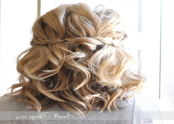Prom Hairstyles For Short Hair Half Up Half Down Wedding Guest For Wedding Guest Hairstyles For Short Hair (View 14 of 15)