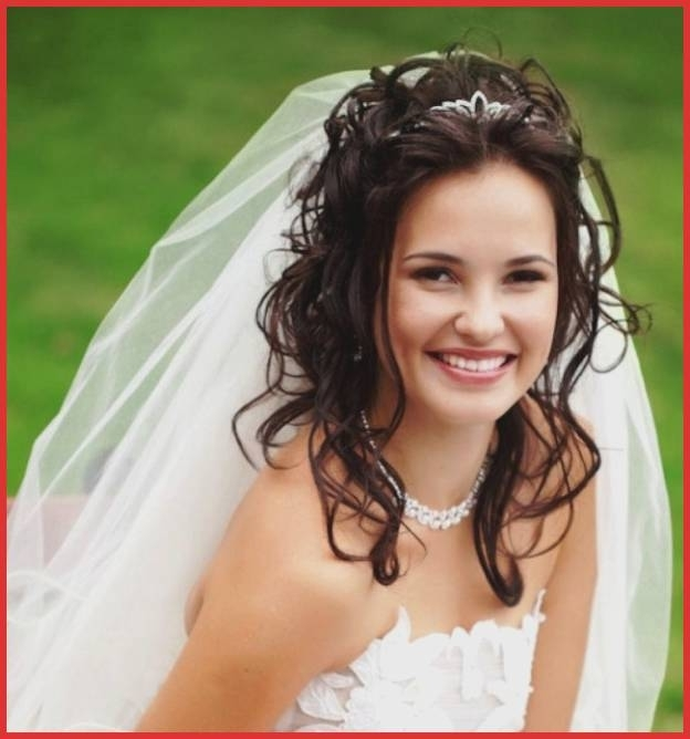 Prom Hairstyles Long Hair Down Curly Vintage Wedding Updos For Long Pertaining To Wedding Hairstyles For Long Hair Down With Veil And Tiara (View 4 of 15)